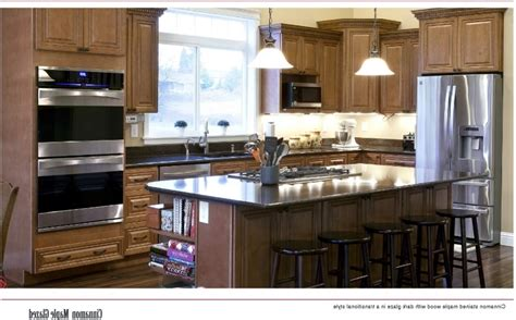 Kitchen And Bath Cabinets Wholesale Best Way To Clean Wooden Kitchen Cabinets Refinished Cabinet Cover Refacing Toronto Painting Before And After Dark Lower Light Upper Laminate Ma