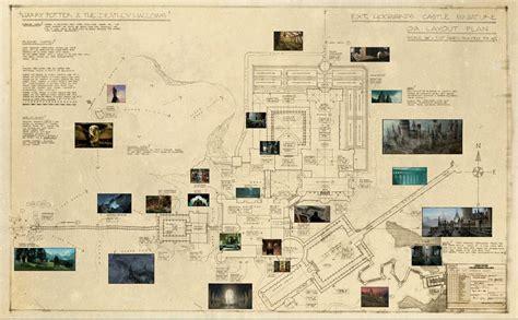blueprint  hogwarts  deathly hallows film revealed