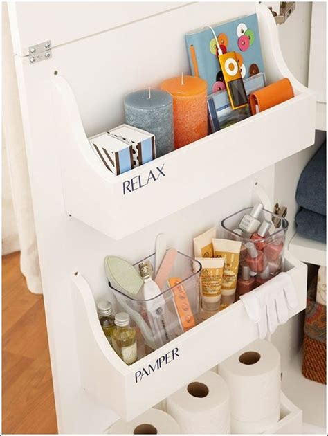 Lifestyle Home The Door Bath Organizer by 15 Clever Hacks For Bathroom Storage And Organization