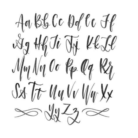 Calligraphy Font by Modern Calligraphy Alphabet Pol Designs Modern