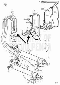 Volvo Penta Exploded View    Schematic Trim System Kit