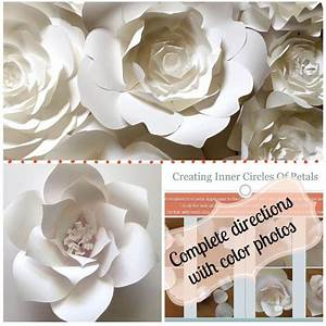 diy paper flower template create your own paper flower wall backdrop or home decor templates With diy paper flower template