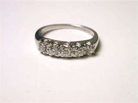 diamond band white gold ring size  weight