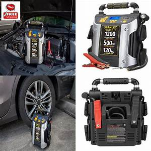 Car Battery Jump Starter Air Compressor 1200 Amp With 500