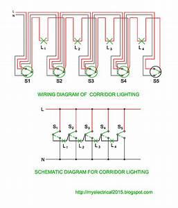 Wiring And Schematic Diagram Of Corridor Lighting