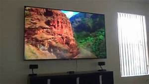 Sony 75 Inch 3d 4k Led  Xbr75x850c  Mounted On Wall Part 1