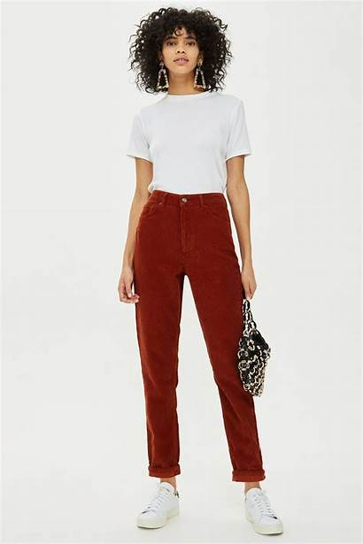Mom Jeans Rust Crop Outfits Topshop Outfit
