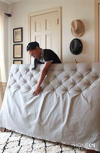how to make a tufted headboard How To Make A Diamond Tufted Headboard