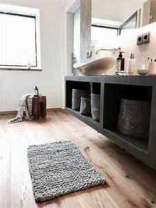 Teppich Für Badezimmer : badteppich grobstrick teppich aus natur wollschnur dicker vorleger f r das badezimmer chunky ~ Orissabook.com Haus und Dekorationen