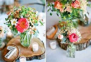 Centre De Table Champetre : fleurs centre tables mariage champetre centre de table ~ Melissatoandfro.com Idées de Décoration