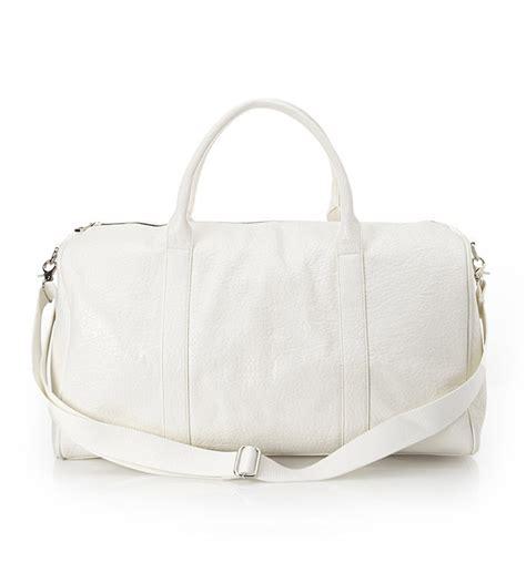 white duffle bag  fashion bags