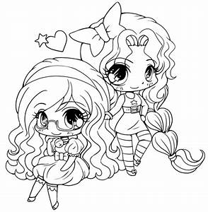 15 cute chibi coloring pages printable | Print Color Craft