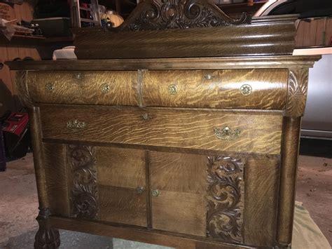 Antique Oak Sideboard Buffet by Antique Tiger Oak Buffet Sideboard Collectors Weekly