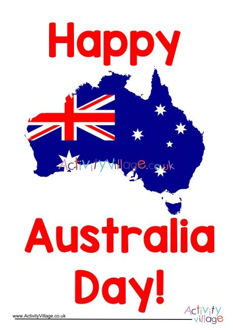 happy australia day poster
