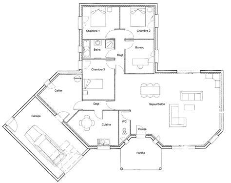 plan de bureau plan maison plain pied 3 chambres 1 bureau gallery of