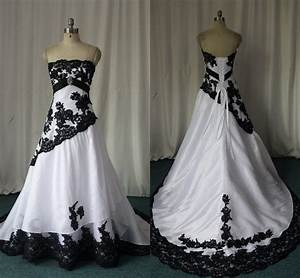 Black and white gothic wedding dresses 2015 custom made for Plus size victorian wedding dresses