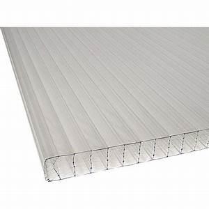 Plaque Alvéolaire Pour Toiture : plaque plat polycarbonate translucide l x l 3 m ~ Edinachiropracticcenter.com Idées de Décoration