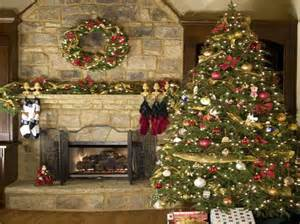 decoration classic christmas tree decorating ideas with stone wall classic christmas tree