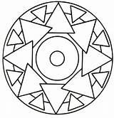 Mandalas Coloring Mandala Triangle Printable Simple Colorir Preschool Nemo Sheets Rocks Cartoon Olphreunion sketch template