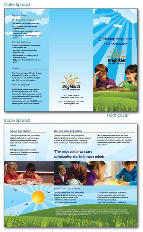 sample daycare brochure preschool