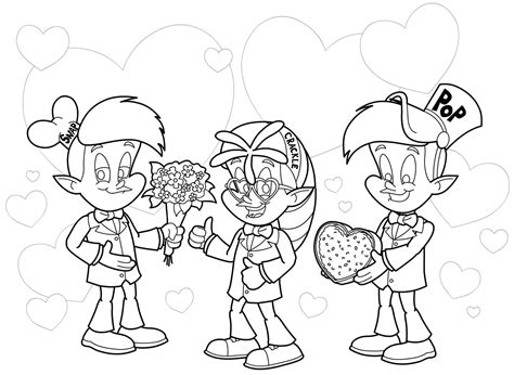 rice krispies characters snap crackle pop valentines