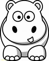 Coloring Hippo Hippos Getdrawings sketch template