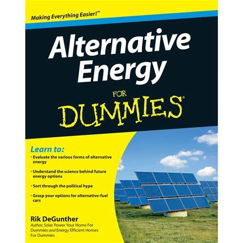 Alternative Energy For Dummies Book