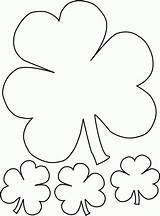 Coloring Shamrock Printable Pages sketch template
