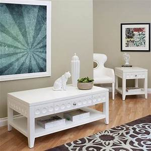 Modern white coffee table sets for White coffee table and end table sets