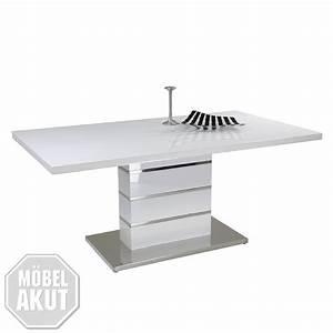 Tisch 160 X 90 : esstisch karolin ii tisch in wei hochglanz lack chrom 160 x 90 cm ebay ~ Bigdaddyawards.com Haus und Dekorationen