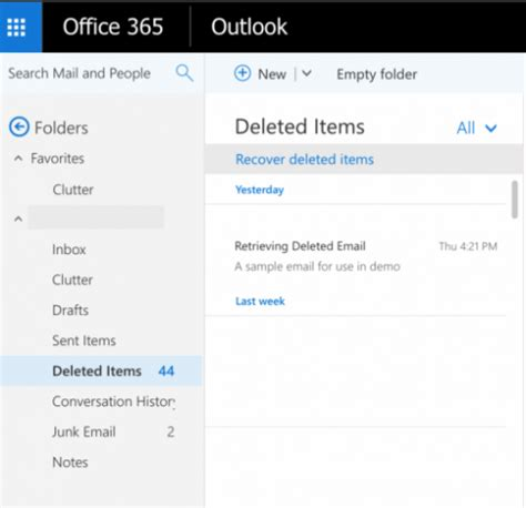 Office 365 Outlook Deleted Items by How Do I Recover Email I Deleted In Outlook Or Office 365