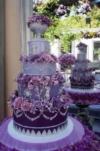 purple wedding cake fancy purple wedding cake with purple flowers