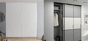 porte de placard coulissante recoupable vs sur mesure With portes de placard coulissantes sur mesure pas cher