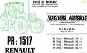 Catalogue Pieces De Rechange Renault Pdf : manuel d 39 entretien tracteur renault 113 12 113 14 133 14 145 14 ~ Medecine-chirurgie-esthetiques.com Avis de Voitures