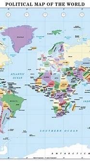World Political map A3 and A4 size : Cosmographics Ltd