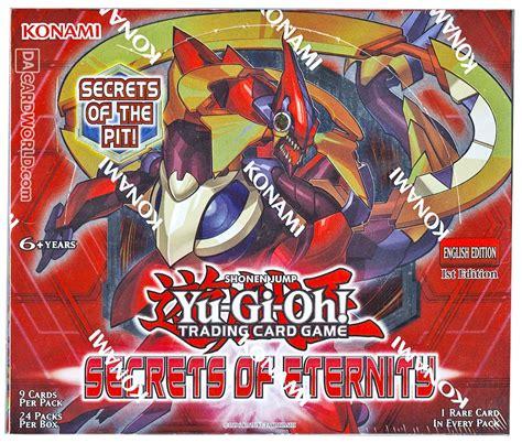 eternity secrets box yu gi oh booster card edition konami