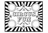 Circus Coloring Printables Birthday Party Clipart Carnival Printable Tickets Ticket Template Fun Invitation Theme Cliparts Parties Printabelle Sheet Games Clip sketch template