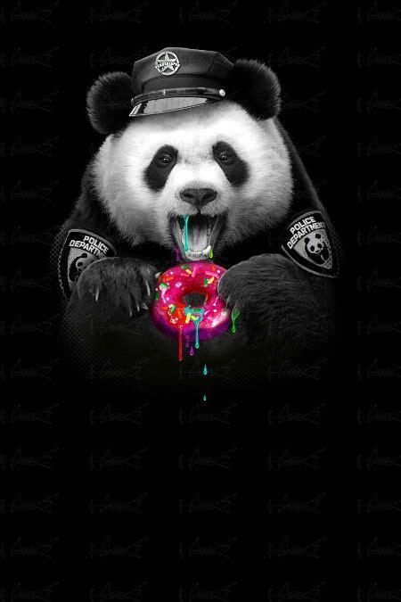 panda police pandemonium panda art panda cute panda