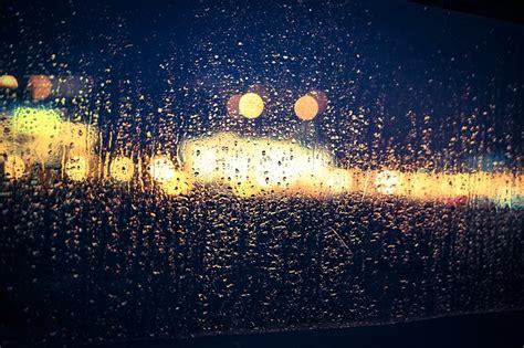 photo bokeh rain glass window blur  image