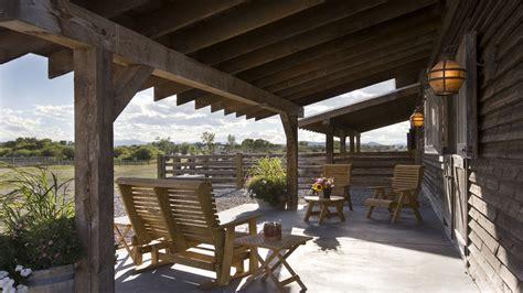 rustic covered patio porch gliders patio rustic