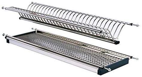 modern  tier stainless steel folding dish drying dryer rack mm drainer plate bowl