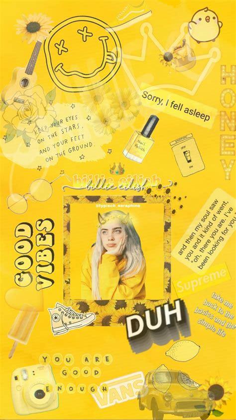 iphone xr wallpaper yellow aesthetic billie eilish in