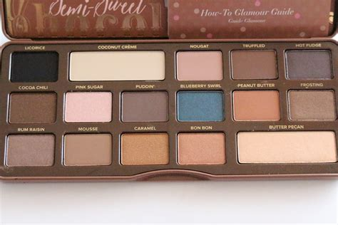 semi sweet chocolate too faced semi sweet chocolate bar palette review swatches really ree