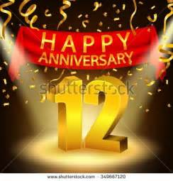 12th anniversary stock photos images pictures