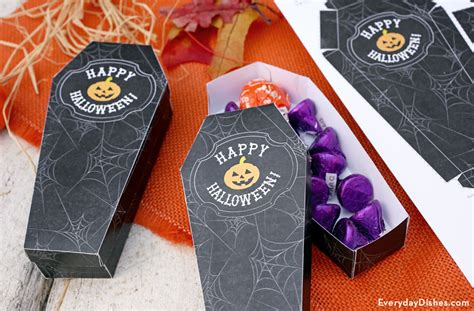 printable coffin treat boxes  halloween candy