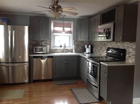 Shaker Style Bar Stools by Grey Shaker Kitchen Cabinets Modern Kitchen
