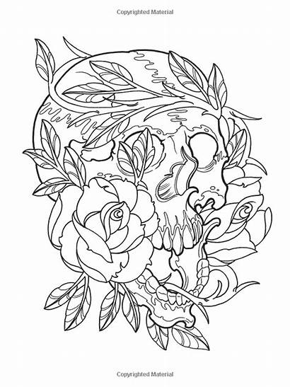 Tattoo Coloring Pages Modern Designs Colouring Printable