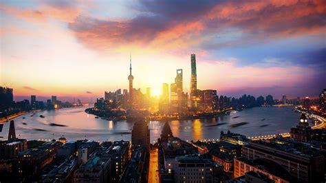 shanghai lujiazui huangpu river sunset scenery preview