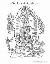Guadalupe Coloring Lady Pages Catholic Printable Sheets Adult Playground Virgin Juan Mary Diego Feast Craft Catholicplayground Projects Colouring December Books sketch template