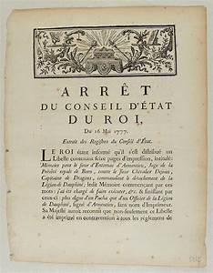 Arrêt Du Conseil D état : arr t du conseil d 39 tat du roi du 16 mai 1777 2 pages ~ Medecine-chirurgie-esthetiques.com Avis de Voitures